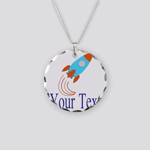 Rocket Ship Personalizable Necklace