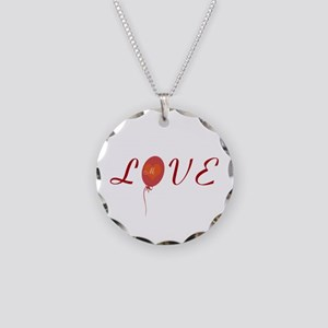 Love I Heart You Necklace Circle Charm