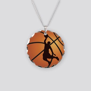 Basketball dunk Necklace Circle Charm