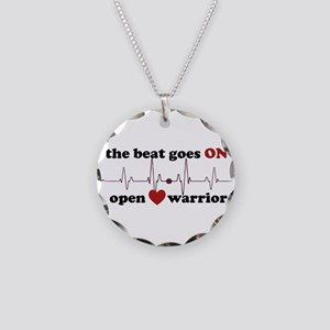 Open heart warrior Necklace Circle Charm