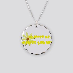 He Loves You Not Necklace Circle Charm