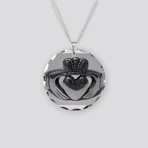Ireland Heart You Claddagh Necklace Circle Charm