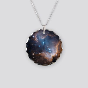 Starbirth region NGC 602 - Necklace Circle Charm