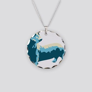 Dachshund Pop Art dog Necklace Circle Charm