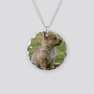 Swedish Vallhund Pup 9Y165D- Necklace Circle Charm