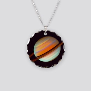 SPEEDY SATURN Necklace Circle Charm