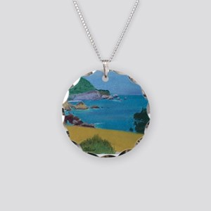 Big Sur Evening shirt Necklace Circle Charm