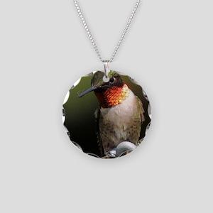 865a44300346b3 Hummingbird Necklace Circle Charm