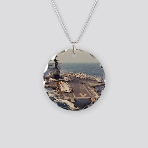 uss midway cva framed panel  Necklace Circle Charm