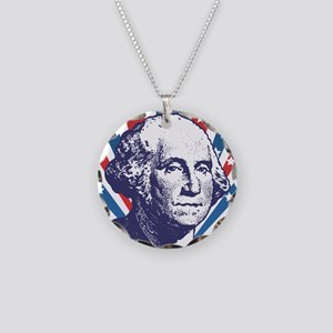 george washington Necklace Circle Charm