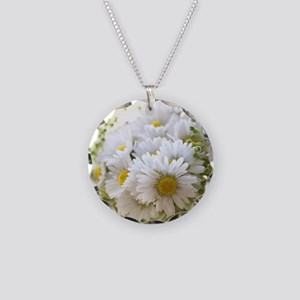 Bouquet of daisies in LOVE Necklace Circle Charm