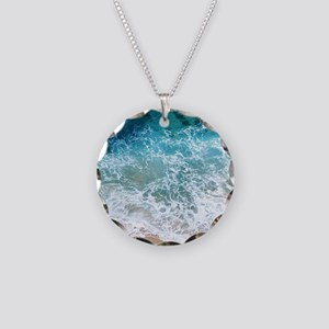 Water Beach Necklace Circle Charm