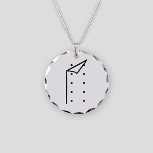 Chef uniform Necklace Circle Charm