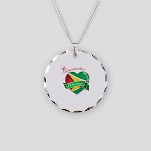 Guyanese Princess Necklace Circle Charm