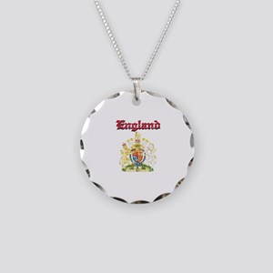 England Coat of arms Necklace Circle Charm
