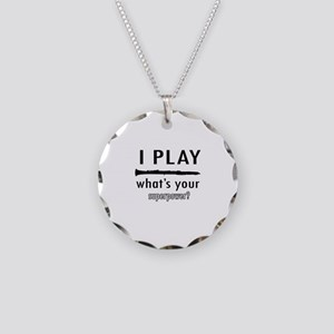Cool Clarinet Designs Necklace Circle Charm