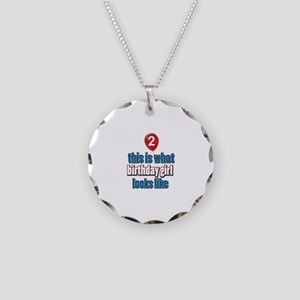 2 year old birthday girl designs Necklace Circle C