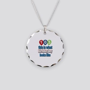 This is what 103 looks like Necklace Circle Charm