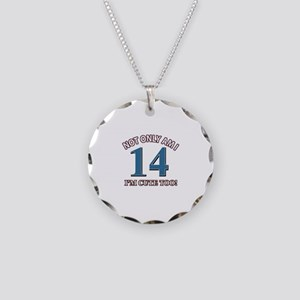 14 year old birthday designs Necklace Circle Charm