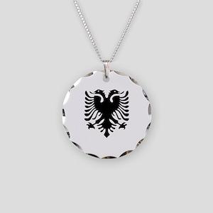 Albanian Eagle Necklace Circle Charm