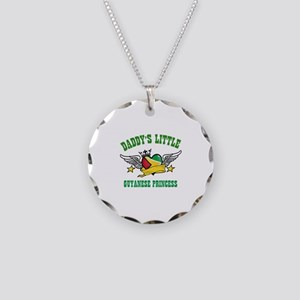 Daddy's little Guyanese Princess Necklace Circle C