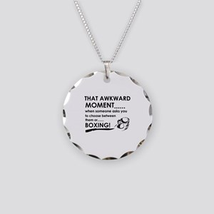 Boxing sports designs Necklace Circle Charm