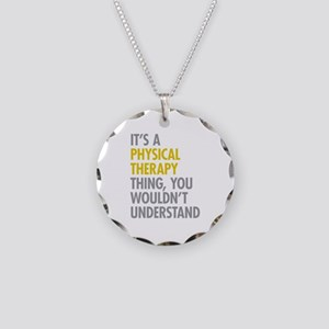 Physical Therapy Thing Necklace Circle Charm