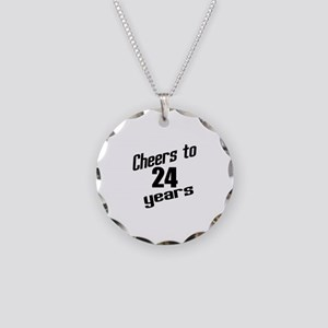 Cheers To 24 Years Birthday Necklace Circle Charm
