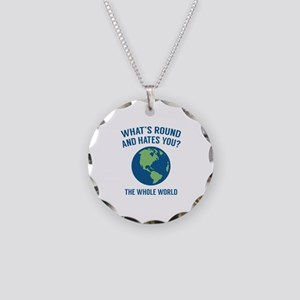 The Whole World Necklace Circle Charm