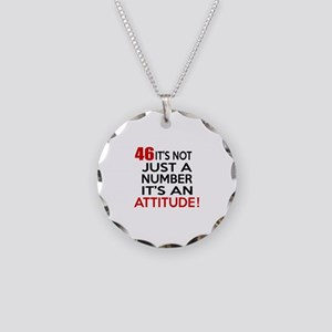 46 It Is Not Just a Number B Necklace Circle Charm