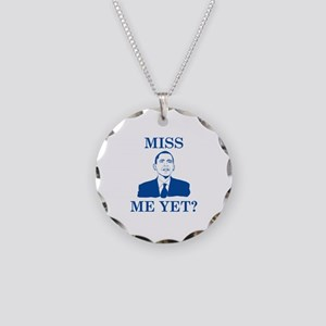 Miss Me Yet? Necklace Circle Charm