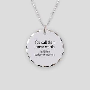 Sentence Enhancers Necklace Circle Charm