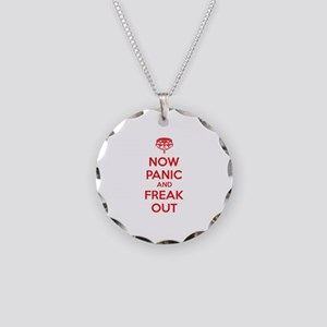 Now paninc and freak out Necklace Circle Charm