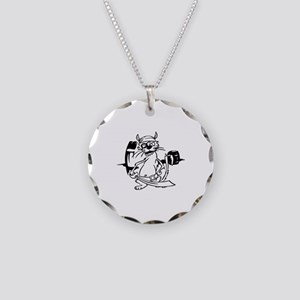 Pirate Necklace Circle Charm