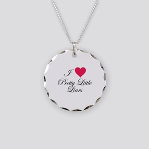 I love Pretty Little Liars Necklace Circle Charm