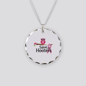 Save the hooters Necklace Circle Charm