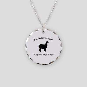 An Adventure? Alpaca My Bags Necklace Circle Charm
