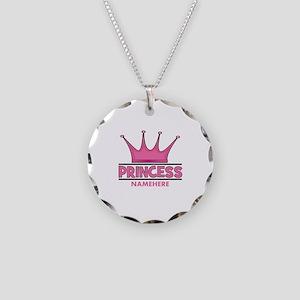 Custom Princess Necklace Circle Charm