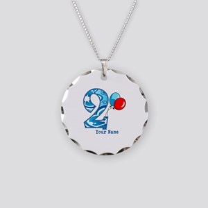 2nd Birthday Personalized Necklace Circle Charm