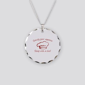 Sleep With A Chef Necklace Circle Charm