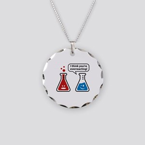 I Think You're Overreacting! Necklace Circle Charm
