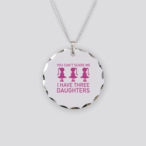 I Have Three Daughters Necklace Circle Charm