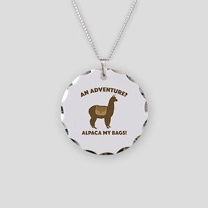 Alpaca My Bags Necklace Circle Charm
