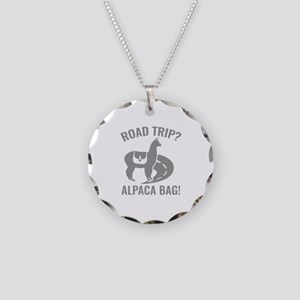 Road Trip? Necklace Circle Charm