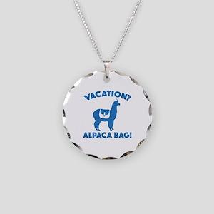 Vacation? Alpaca Bag! Necklace Circle Charm