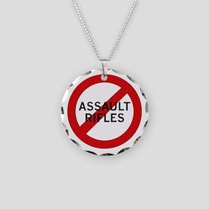 Ban Assault Rifles Necklace Circle Charm
