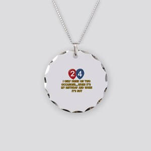24 year old birthday designs Necklace Circle Charm