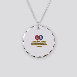 46 year old birthday designs Necklace Circle Charm