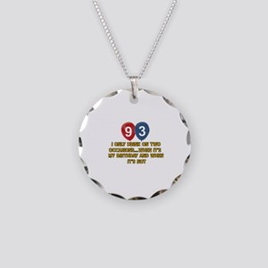 93 year old birthday designs Necklace Circle Charm