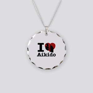 Aikido Heart Designs Necklace Circle Charm